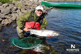 Salmon fly fishing - George River fishing